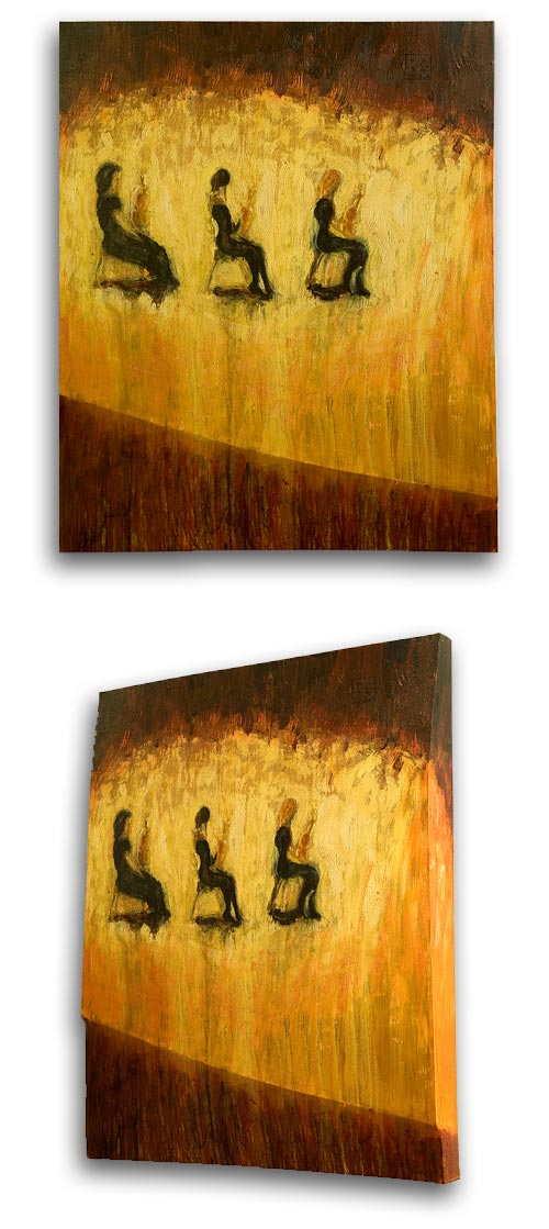 Front Row Strings, ASO, painting by Sam Golding