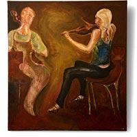 Half Quartet, painting by Sam Golding