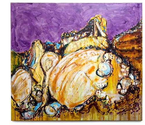 The Hazards, Freycinet, painting by Sam Golding