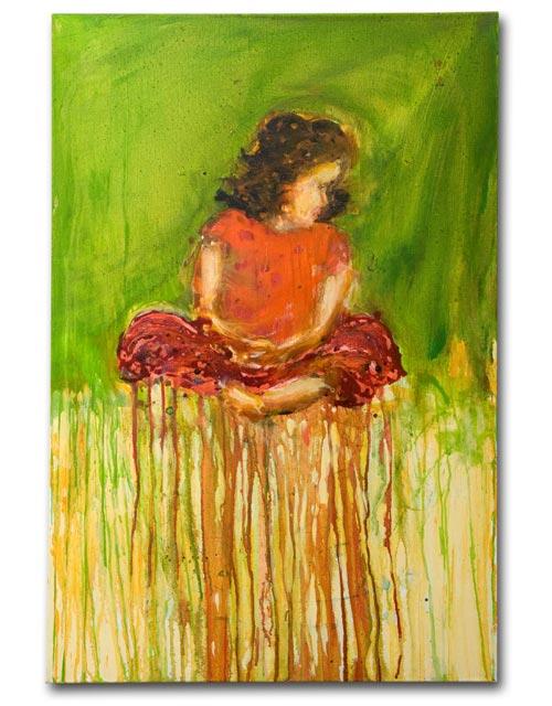 Kate Crosslegged, painting by Sam Golding