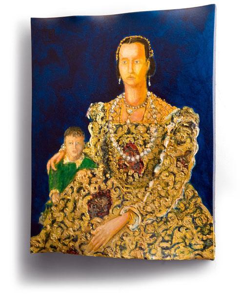Eleanor of Toledo after Bronzino, painting by Sam Golding