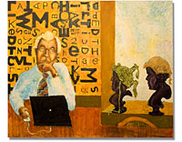 Julian Burnside, painting by Sam Golding