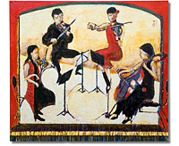 Flinders Quartet in the Round, painting by Sam Golding